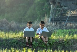 Children with internet connected devices